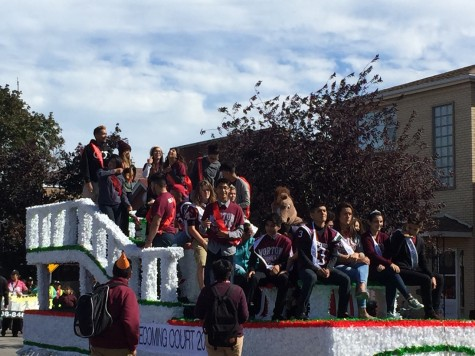 The Homecoming parade featuring the schools Homecoming courts is a time-honored tradition.