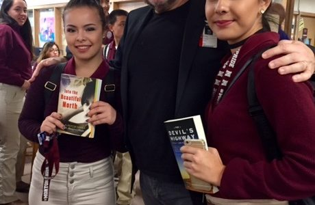Mexican-born Author Shares Stories about His Life to Classes in the Library