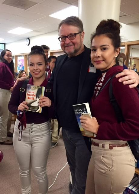 Mr. Urrea met and talked personally with many students.