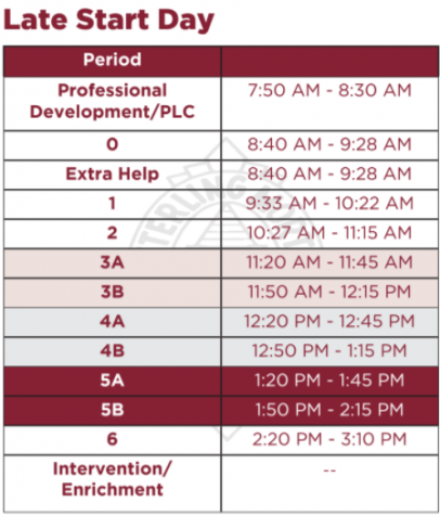 35eff9fe3605 Half days and late starts will also be affected due to this change. The  District has implemented an allocated time on half days to allow students  to enrich ...