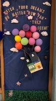 Ms. Hughes' door won 1st place.