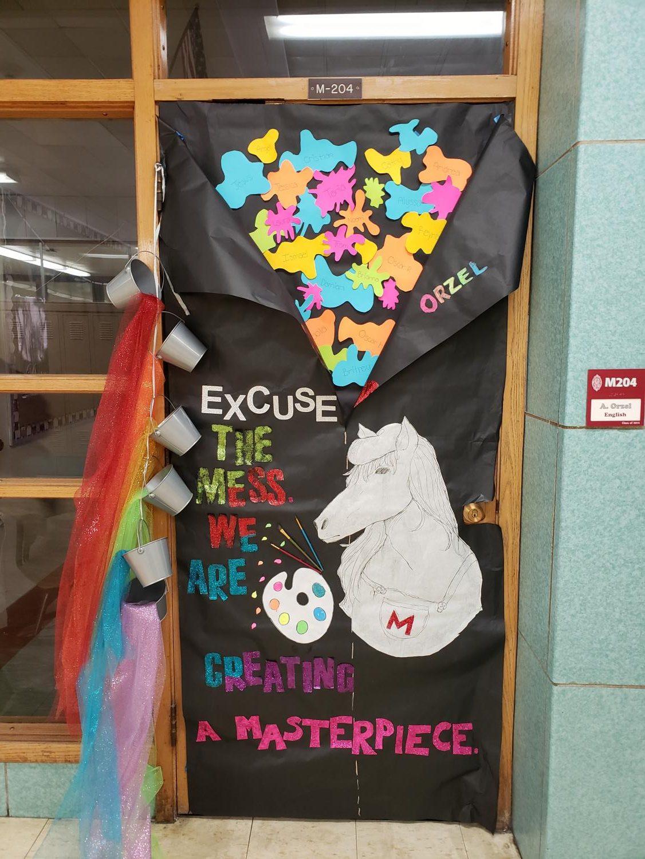 Ms. Orzel's door is the first place winner.