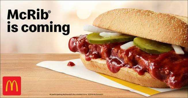 The McRib is Back With Some Serious McHistory