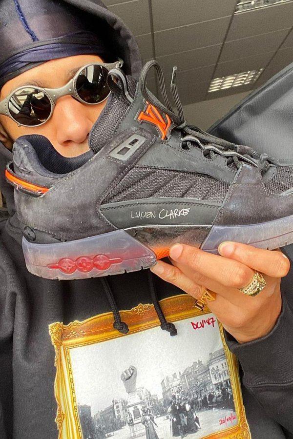 Lucien+Clarke+with+sponsored+Louis+Vuitton+shoe