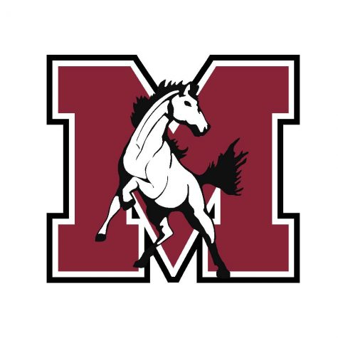 The logo for the Morton West Mustangs