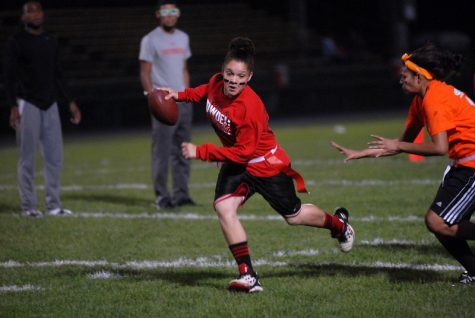 Powderpuff offers Morton West girls a chance to play under the bright lights.